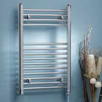 K-Rad Electric Only Bathroom Towel Warmer - Chrome - Straight