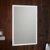 500 x 700mm LED Bluetooth Bathroom Mirror with Integrated Shaver Socket and Demister Pad