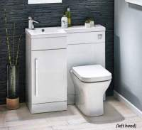Lili 900mm Bathroom Furniture Pack - Gloss White