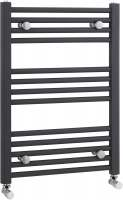 700 x 500mm Anthricite Straight Ladder Towel Rail