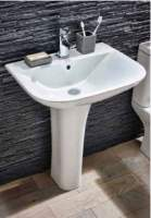 Porto 550mm 1 Tap Hole Basin & Full Pedestal