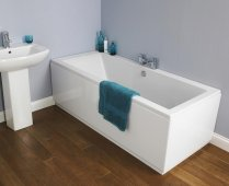Asselby Square Double Ended Bath - 1700 x 700mm - NBA509 - Nuie