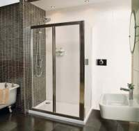 Roman Showers Collage Bi-Fold Shower Door 1200mm Silver
