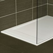 Roman Infinity Shower Tray 1600mm x 800mm - White/Black/Grey