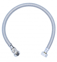 "Viva 1/2"" x 15mm - 500mm - Braided Flexi Hose With Isolation Valve"