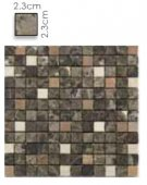Abacus Direct Stone Square Mixed Brown Mosaic Tile - 305 x 305cm