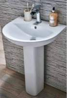 Zili 550mm 1 Tap Hole Basin & Full Pedestal