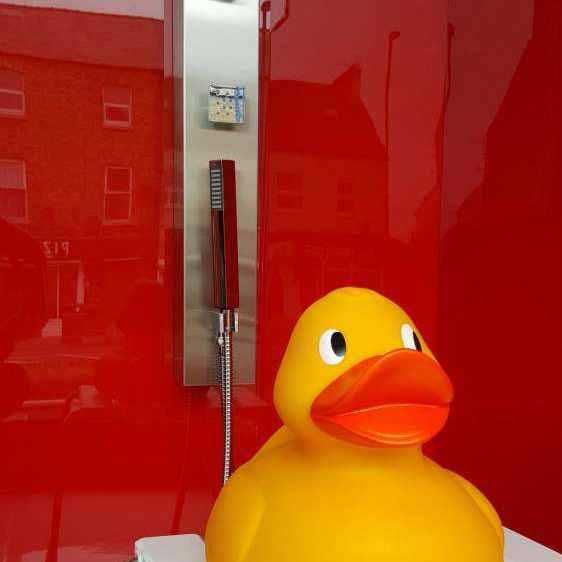 Lustrolite Rouge (Red) High Gloss Glass Effect Bathroom ...