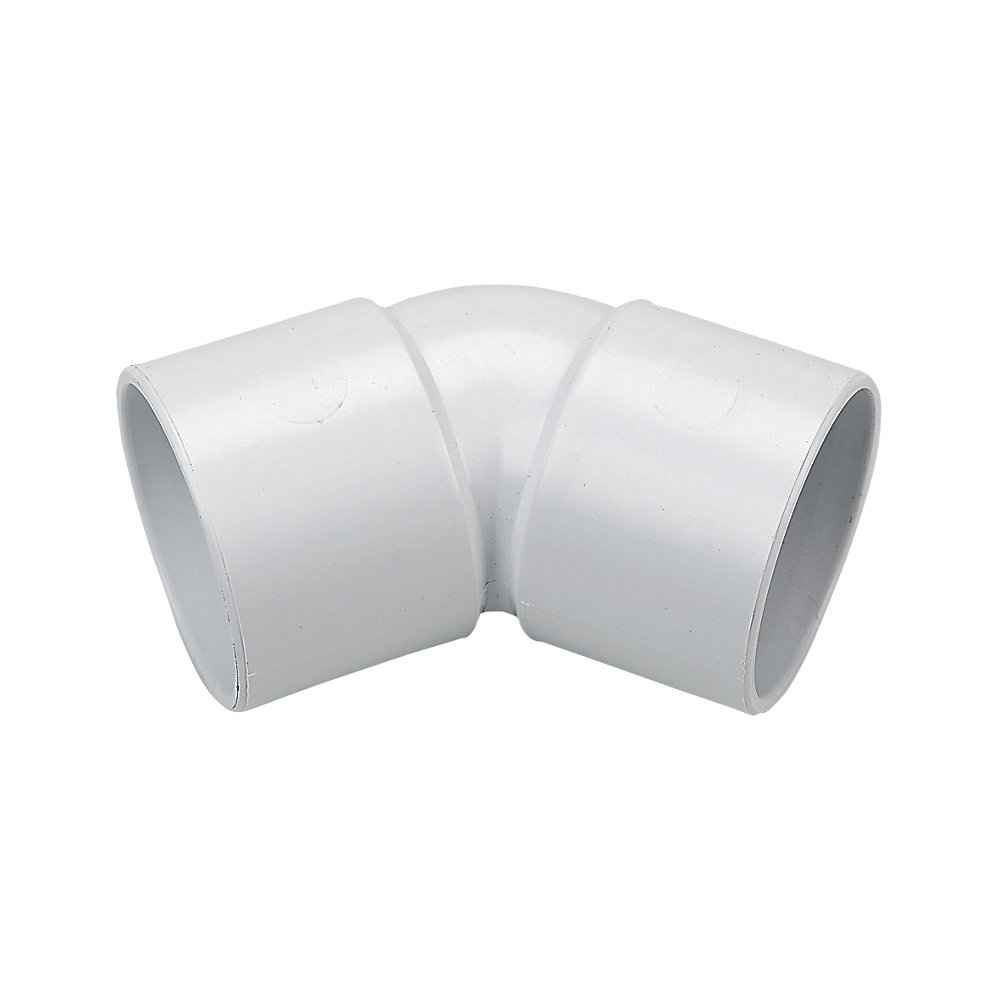 FloPlast ABS Solvent Fit 40mm - 45 Degree Bend Elbow - White - Waste Pipe