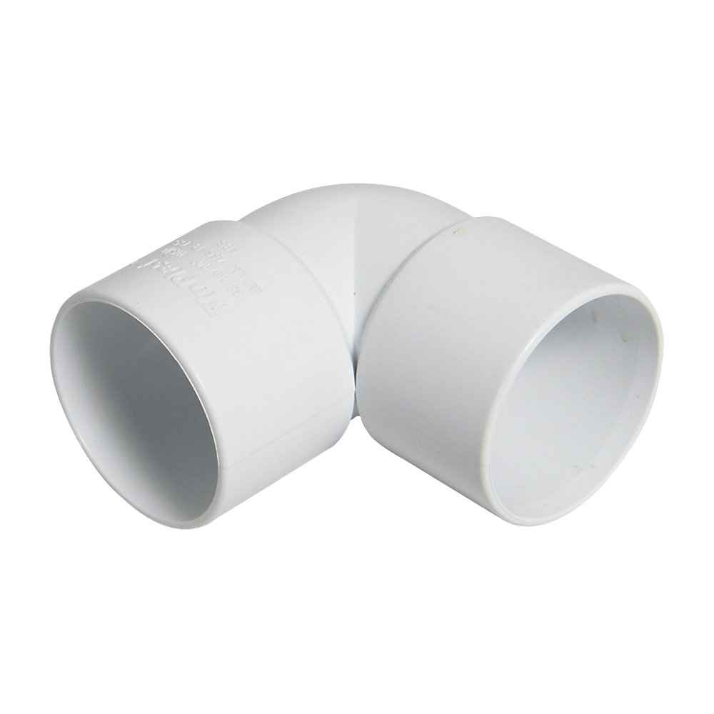 FloPlast ABS Solvent Fit 32mm - 90 Degree Bend Elbow - White - Waste Pipe