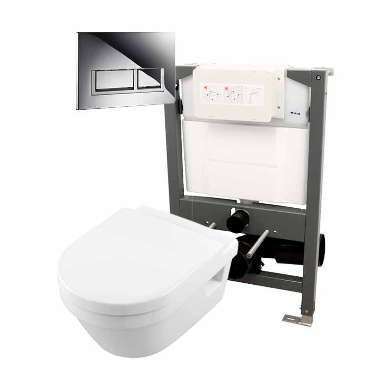 Essentials Frame 820mm & Opaz 2 Wall Hung WC Pack 820t