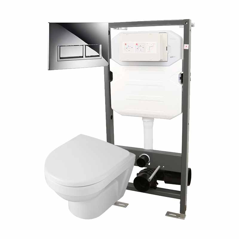 Essentials Frame 1140mm & Opaz 2 Compact Wall Hung WC Pack 1140t
