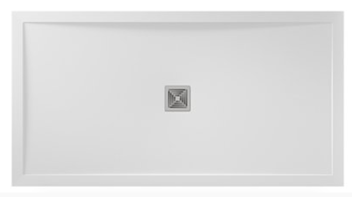 Aqualavo White Slate Effect Shower Tray 1200 x 700mm