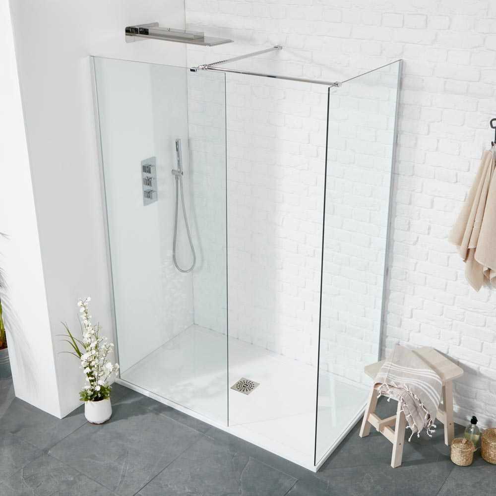 Aquaglass Plus 8mm Walk-in Shower Enclosure Inc 25mm Slimline Tray ...
