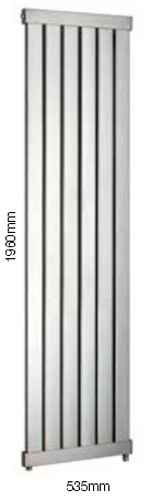 Arun Feature Towel Rail Sussex Stainless Steel 535 x 1960mm