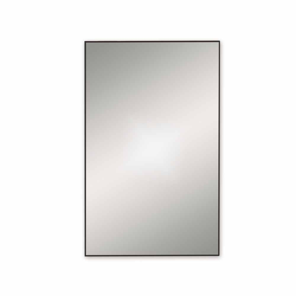 Docklands 500 x 800mm Rectangular Mirror 50 - Matt Black