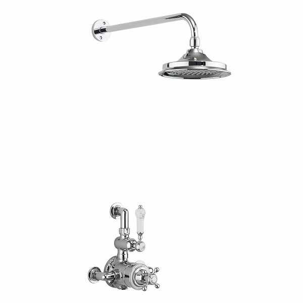 Burlington Avon Exposed Traditional Thermostatic Shower with Fixed Head - AF1S