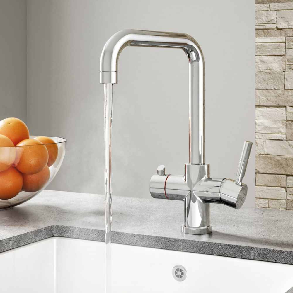 3-in-1 Instant Hot Water Kitchen Tap Inc Boiler Unit & Filter - Francis Pegler Comap