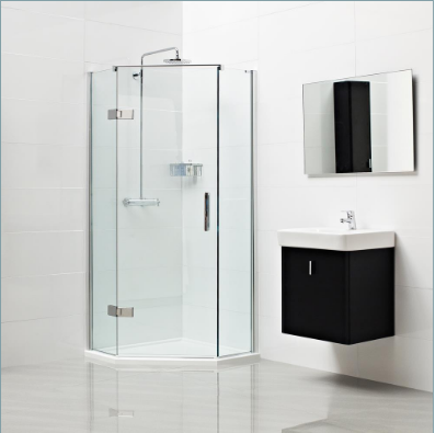 Decem Neo-Angle Shower Enclosure for Corner Fitting 900 x 900mm by Roman Showers