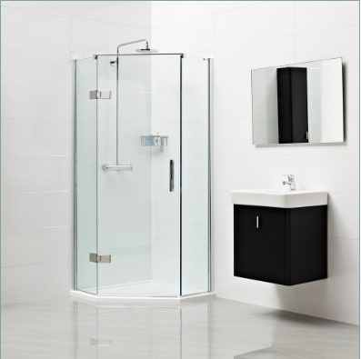 Decem Neo-Angle Shower Enclosure for Corner Fitting 1200 x 900mm by Roman Showers