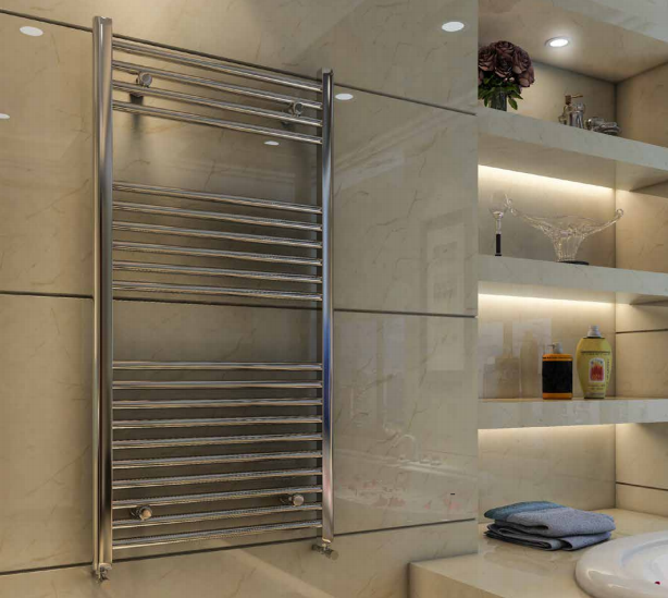 Wingrave Straight Chrome Towel Rail 1600mm x 600mm - Eastbrook