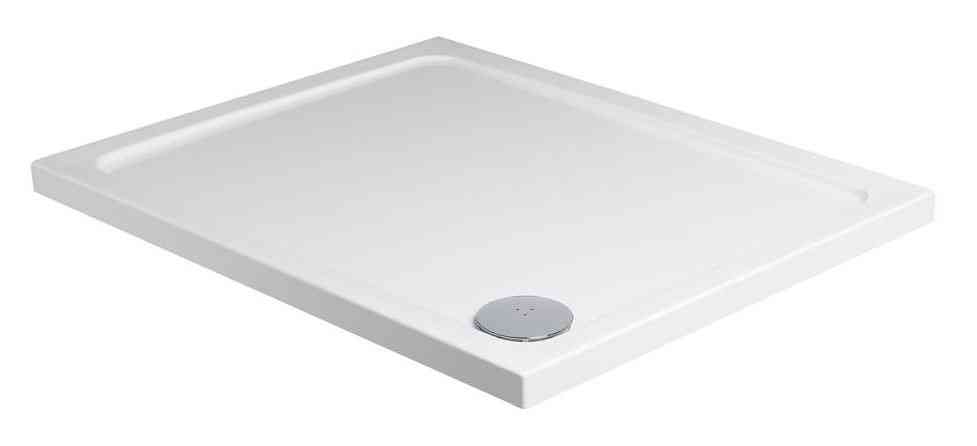 Roman Acrylic Capped Stone Rectangle Shower Tray 1000mm x 800mm