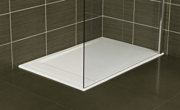 Roman Infinity Shower Tray 1200mm x 800mm - Matt & White