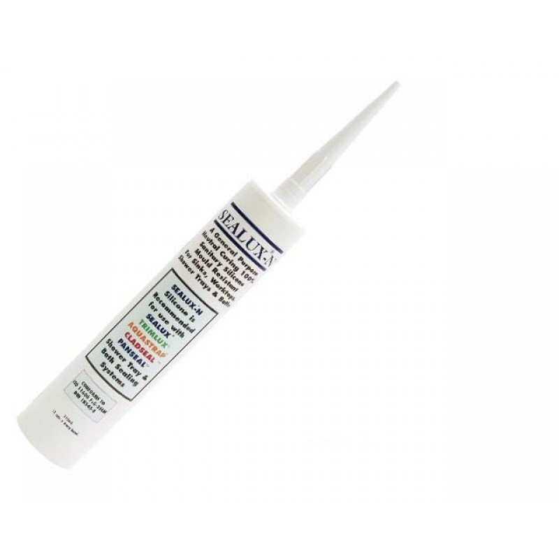 Sealux-N Bathroom Shower Silicone Sealant - White - Neutral Curing