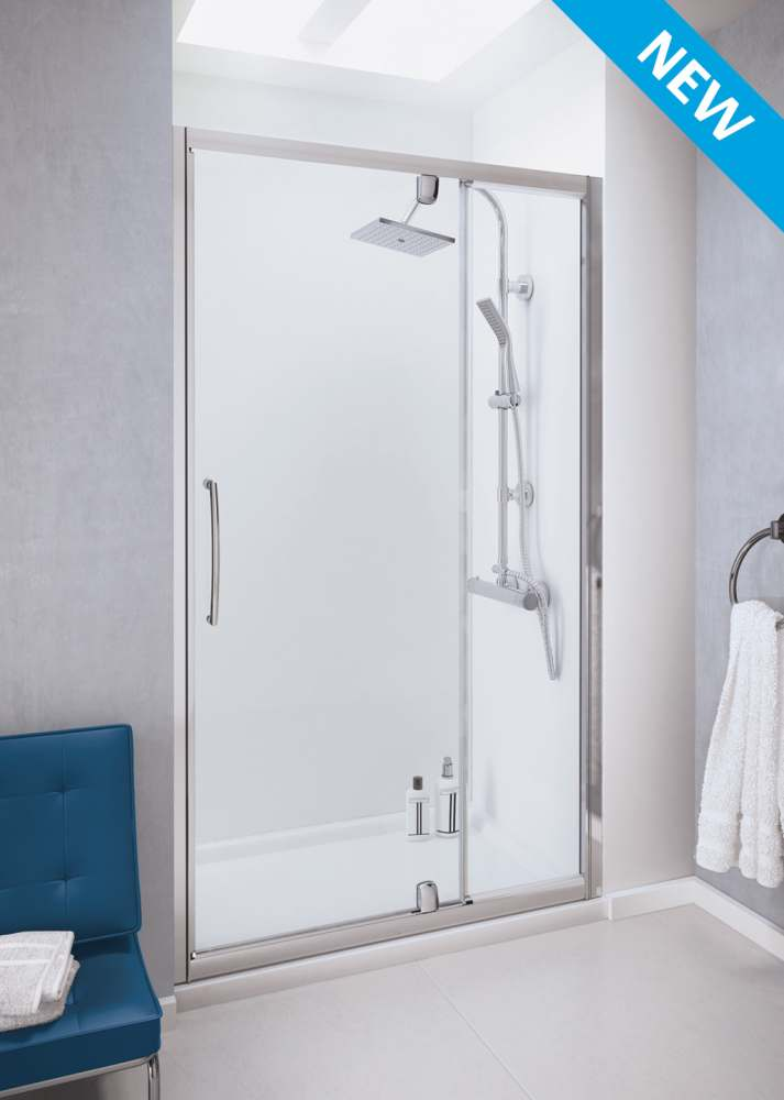lakes bathrooms semi frameless pivot door with integrated in