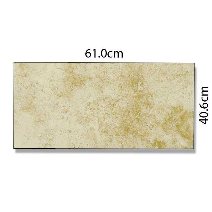 Abacus Direct Travertine Marble Tile Beige - 61 x 40.6cm