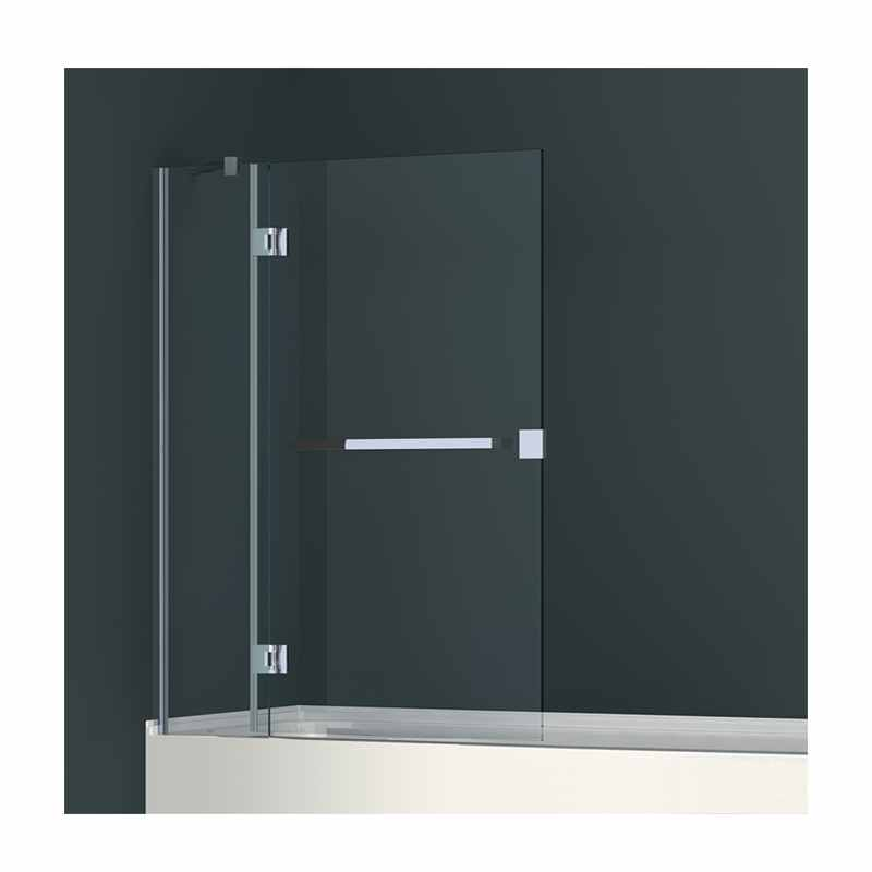 Abacus Two Part Hinged Bath Shower Screen 940 x 1450 x 8mm