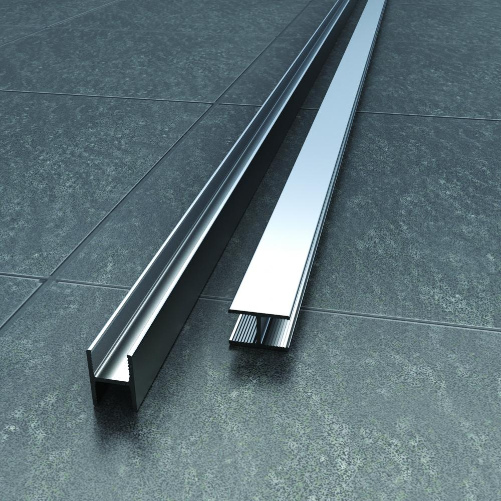 Vessini X Series Straight Connecting Channel -10mm Thick Glass