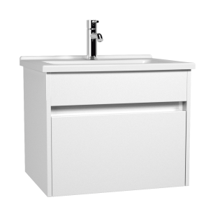 Vitra S50 600mm Vanity Unit with Drawer & Basin - Gloss White
