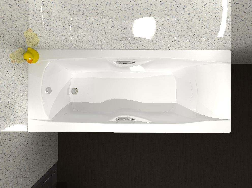 Carron Imperial - 5mm - Single Ended Bath With Grips - 1500 x 700mm