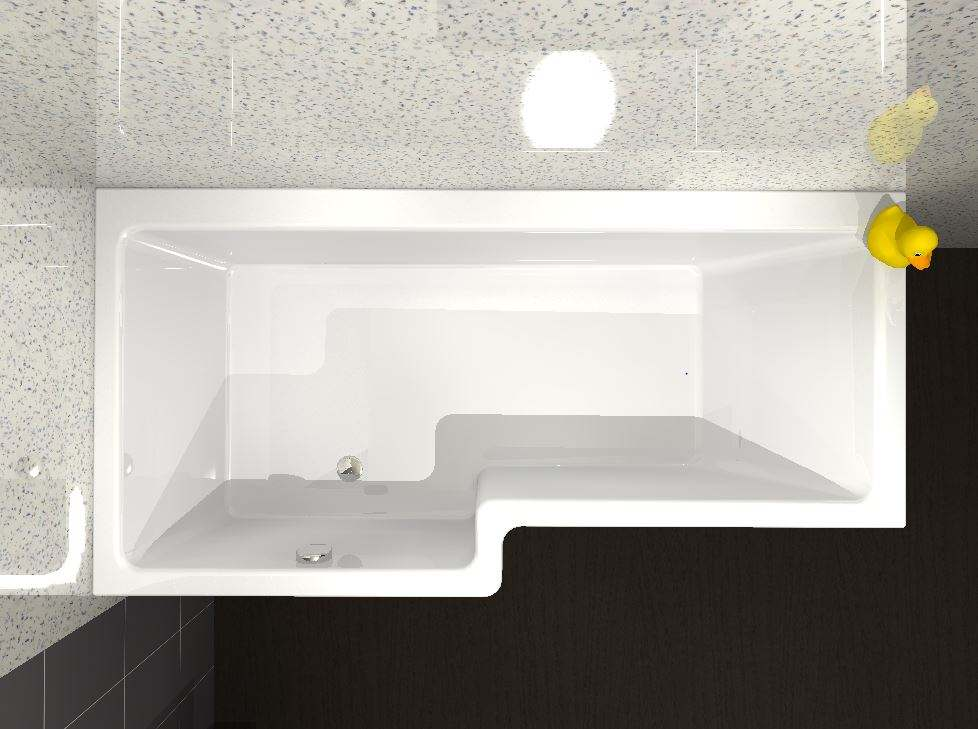 Buy Carron Quantum Square Shower Bath - 1600 x 700 - 850mm