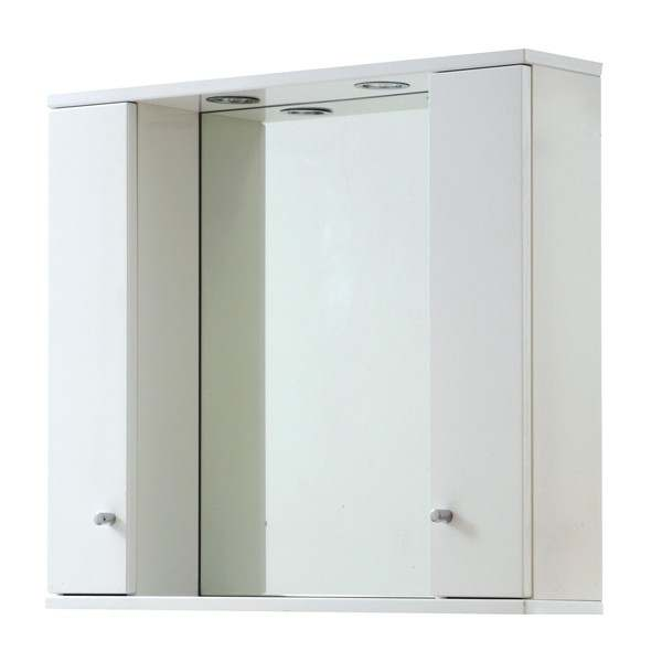 frontline aquapure range 1 gloss white 850mm mirror