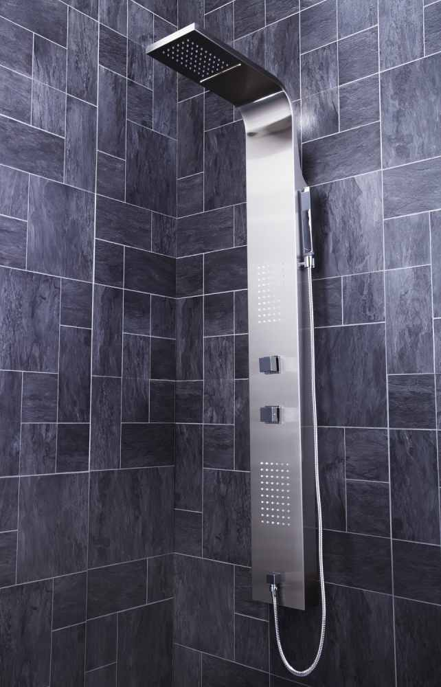 Frontline Aquaflow Modo Thermostatic Shower Panel With LED Body Jets ...
