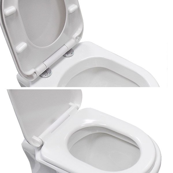 Luxury D Shaped Soft Close Toilet Seat NTS004 Rubberduck Bathroom