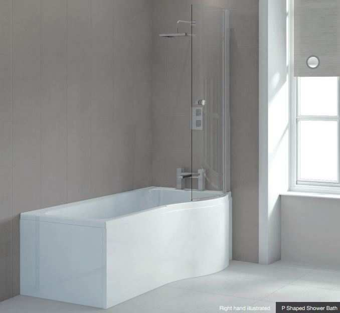 Shower Bath P Shaped Complete Suite by Sommer Vitra  Shower Bath Suites  Shower Bath Suite. Rubberduck Bathrooms