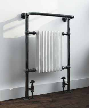 Wentworth Traditional Black Nickel & Enamel Radiator