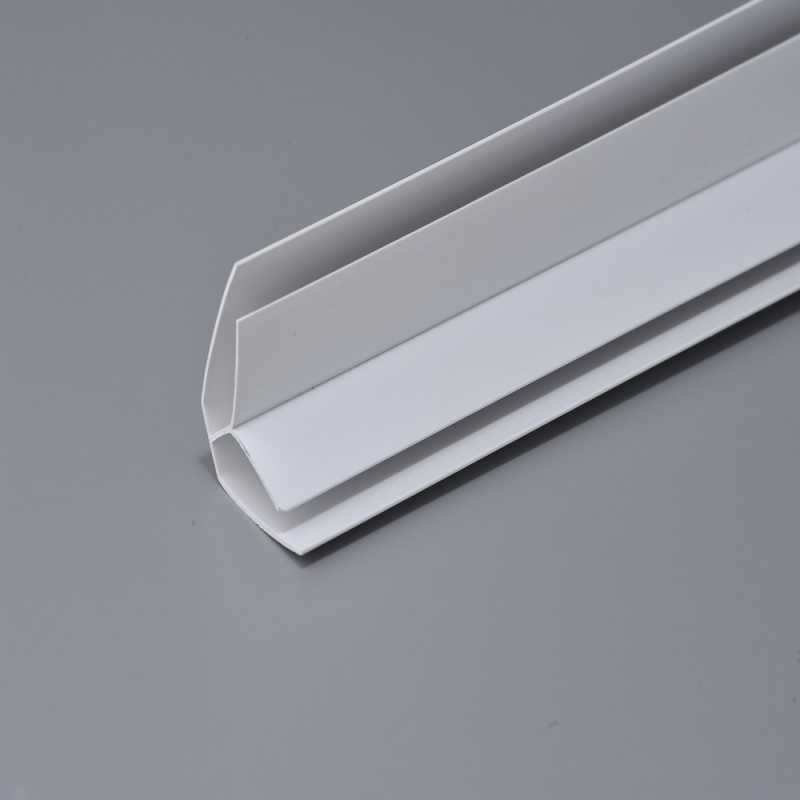 Internal Corner -  uPVC Wall Ceiling Panel Trim - White or Silver