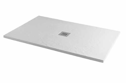 MX Group Minerals Ice White Slate Effect Shower Tray - 1400 x 900mm