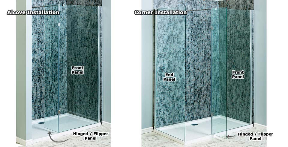 Walk-in shower configerations